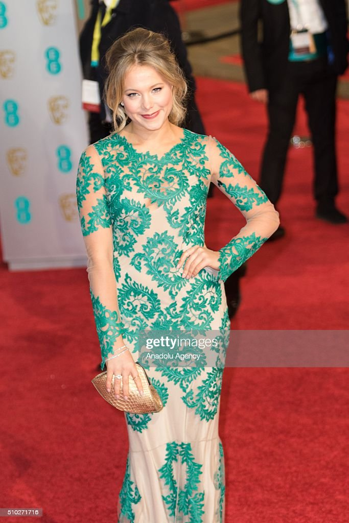 Poppy Jamie attends the EE British Academy Film Awards at The Royal Opera House on February 14, 2016 in London, England.