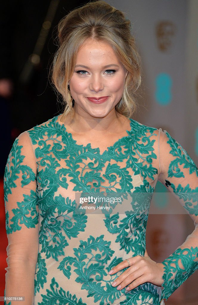 <a gi-track='captionPersonalityLinkClicked' href=/galleries/search?phrase=Poppy+Jamie&family=editorial&specificpeople=10619306 ng-click='$event.stopPropagation()'>Poppy Jamie</a> attends the EE British Academy Film Awards at The Royal Opera House on February 14, 2016 in London, England.