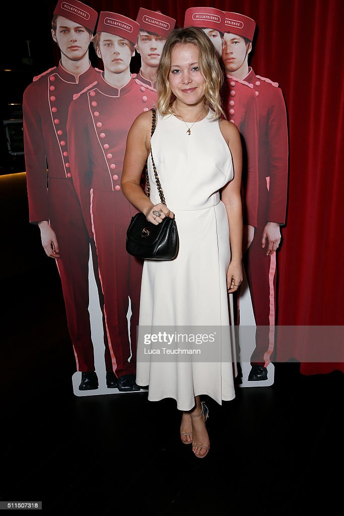Poppy Jamie attends the Hill Friends Presentation show during London Fashion Week Autumn/Winter 2016/17 at on February 21 2016 in London England