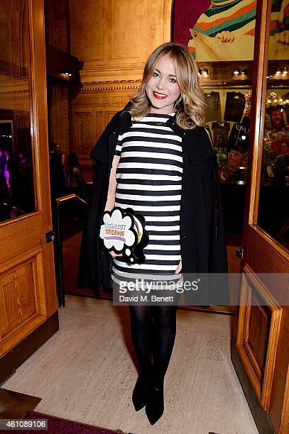 Poppy Jamie attends the VIP performance of 'Kooza' by Cirque Du Soleil at Royal Albert Hall on January 6 2015 in London England