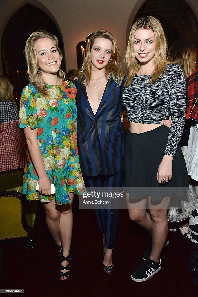 Poppy Jamie Greta Bellamacina and Lola Lennox attend a private cocktail party to celebrate the launch of With Love A Collection of Contemporary...