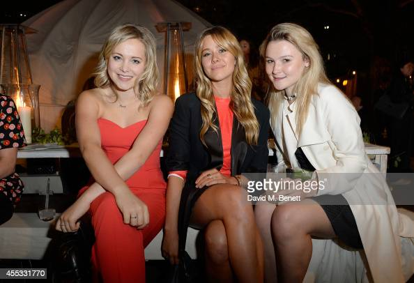 Poppy Jamie Jazzy de Lisser and Amber Atherton attend Club Monaco Sloane Square event to celebrate Women's Flagship Store opening on September 12...