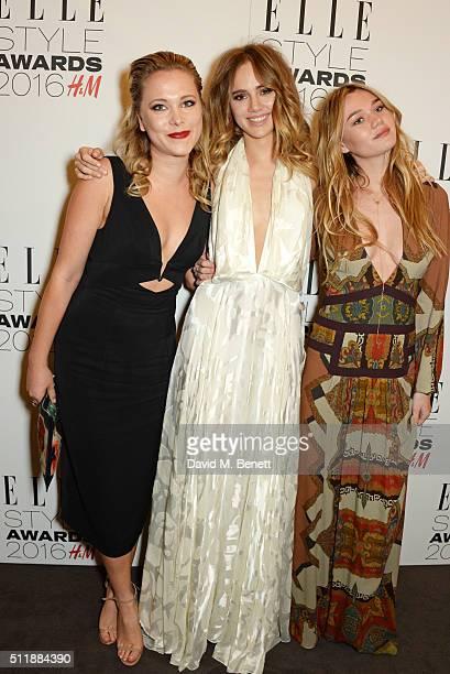Poppy Jamie Suki Waterhouse and Immy Waterhouse attend The Elle Style Awards 2016 on February 23 2016 in London England