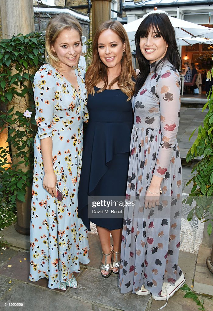 Poppy Jamie Tanya Burr and Daisy Lowe attend an intimate dinner hosted by Tanya Burr to launch her first cookbook 'Tanya Bakes' at Number Sixteen on...