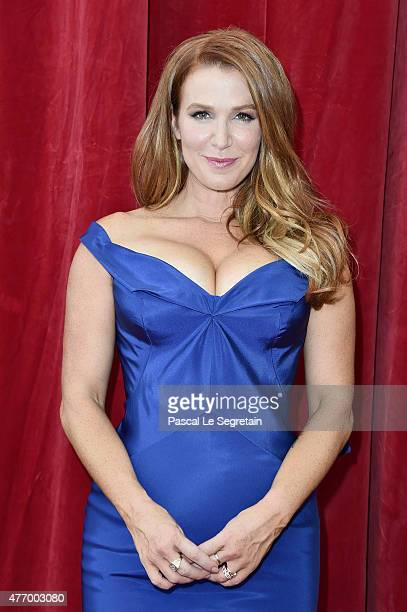 Poppy Montgomery arrives to attend the opening ceremony of the 55th Monte Carlo TV Festival on June 13 2015 in MonteCarlo Monaco