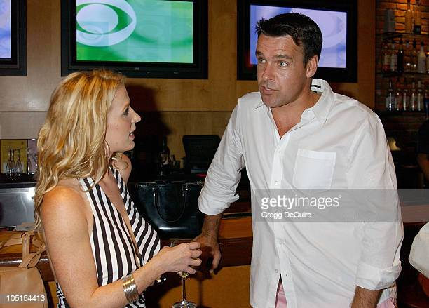 Poppy Montgomery David James Elliott during 2003 TCA Summer Press Tour CBS Party in Hollywood California United States