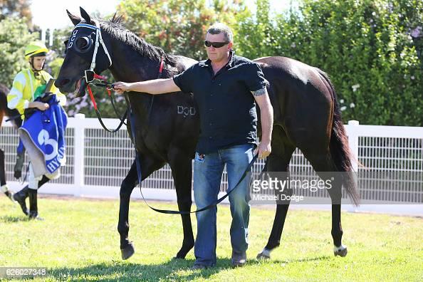 Poppy Talk after winning Latrobe City BM64 Handicap at Traralgon Racecourse on November 27 2016 in Traralgon Australia