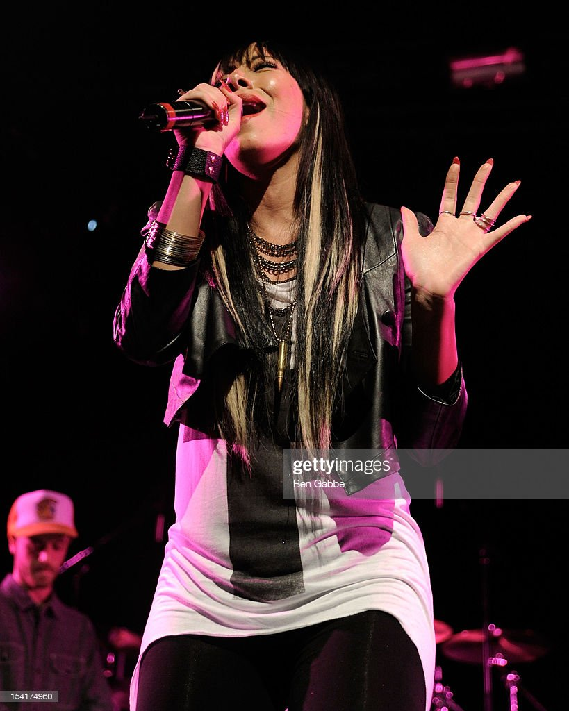 Pop/R&B singer and songwriter Bridget Kelly performs at Best Buy Theater on October 15, 2012 in New York City.