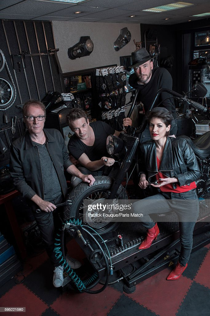 Pop/rock band Superbus are photographed for Paris Match on June 14, 2016 in Paris, France.