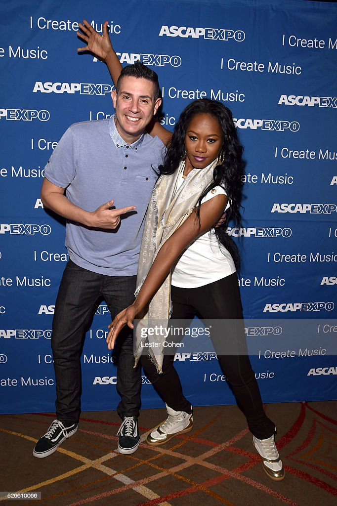 VP, Pop/Rock Membership, Marc Emert-Hutner and songwriter Priscilla Renea attend the 2016 ASCAP 'I Create Music' EXPO on April 30, 2016 in Los Angeles, California.