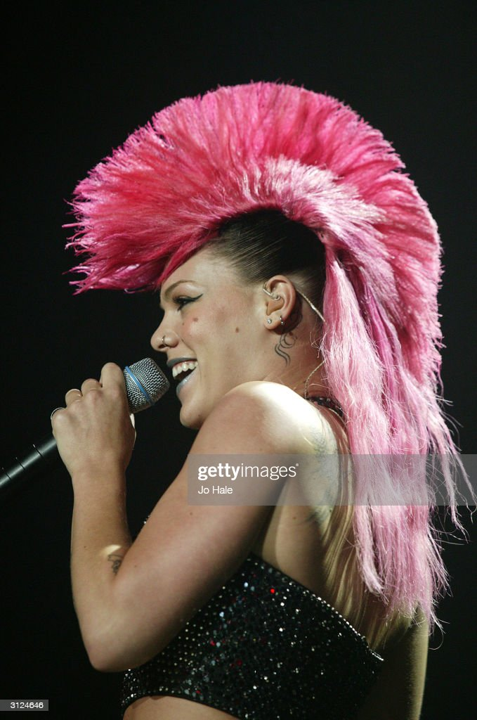 US pop-rockstar Pink plays London stop of European tour promoting current album 'Try This' at Wembley Arena on March 23, 2004 in London. Tour started March 20 in Birmingham and winds up April 1 in Glasgow.
