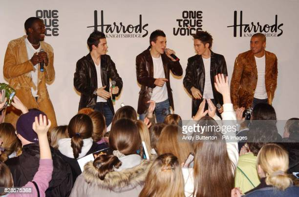 The Rivals winners One True Voice from left to right Anton Gordon Matt Johnson Keith Semple Jamie Shaw and Daniel Pearce perform their new single...