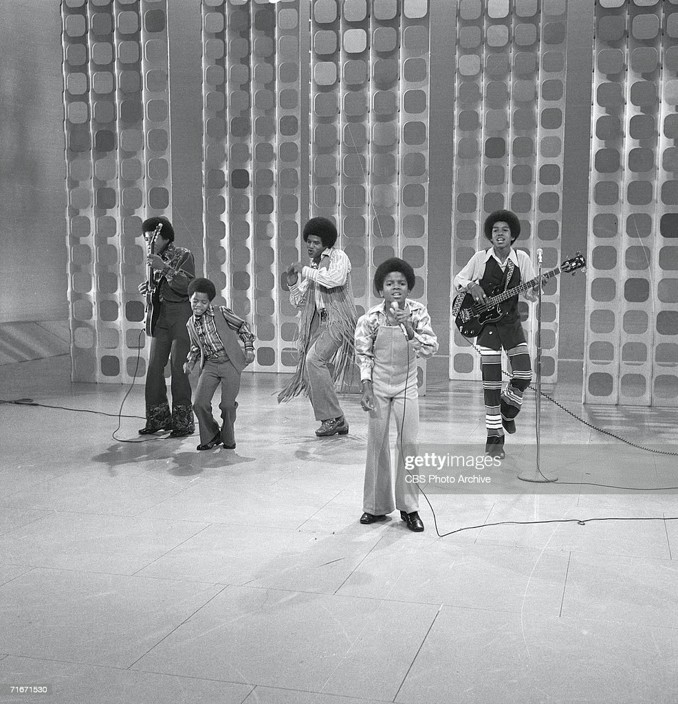 Popular American musical group the Jackson Five perform on 'The Ed Sullivan Show' New York New York May 10 1970 Pictured are from left Tito Jackson...