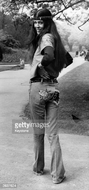 Popular American singer half native American Cherokee all hippy Rita Coolidge in Hyde Park London at the start of her tour of England She will be...