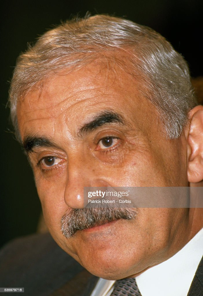 Popular Front for the Liberation of Palestine (FPLP) leader <a gi-track='captionPersonalityLinkClicked' href=/galleries/search?phrase=George+Habash&family=editorial&specificpeople=1106400 ng-click='$event.stopPropagation()'>George Habash</a> attends the 19th session of the Palestinian National Council. The Palestinian Liberation Organization proclaimed the state of Palestine, acknowledged resolutions 181, 242, and 338, and condemned terrorism during the meeting.