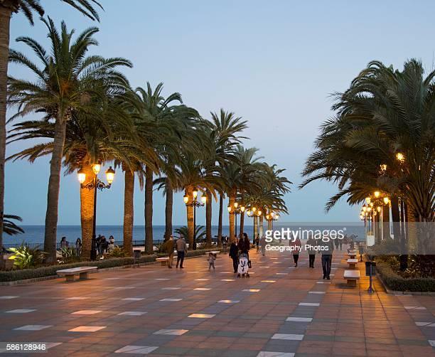 Popular holiday resort town of Nerja Malaga province Spain