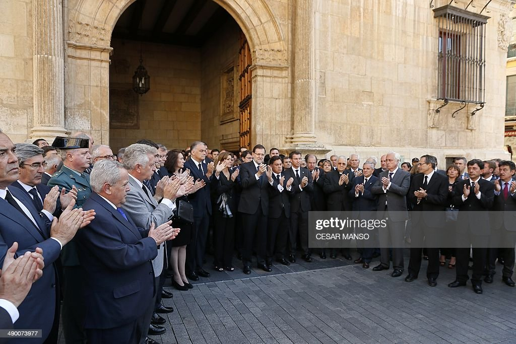 Popular Party's deputy Secretary General of organization General Esteban Gonzalez Pons PP's General Secretary Maria Dolores de Cospedal Spain's Prime...