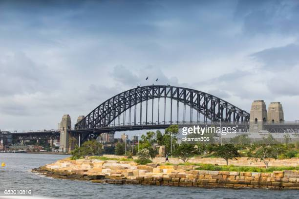popular place sydney harbor bridge in the  landscape