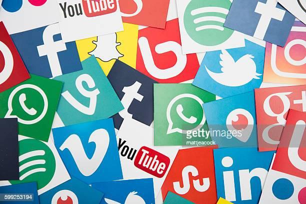Le icone dei social media