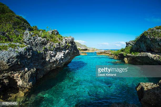 A popular swimming spot on Niue Island; Niue