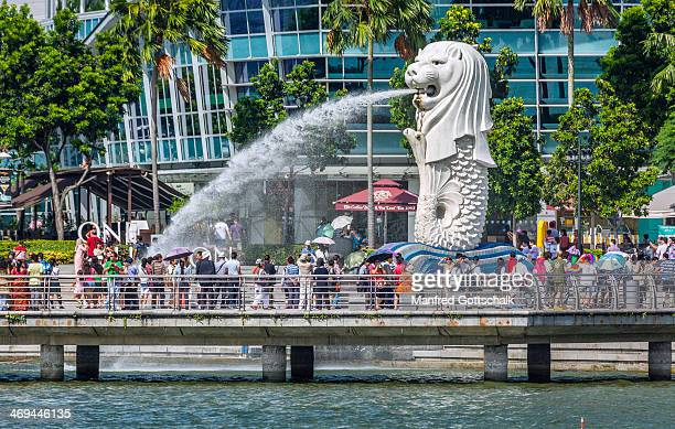 Popular waterspouting Merlion