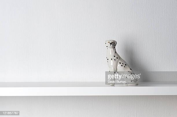 Porcelain Dalmatian Dog Sitting on Shelf