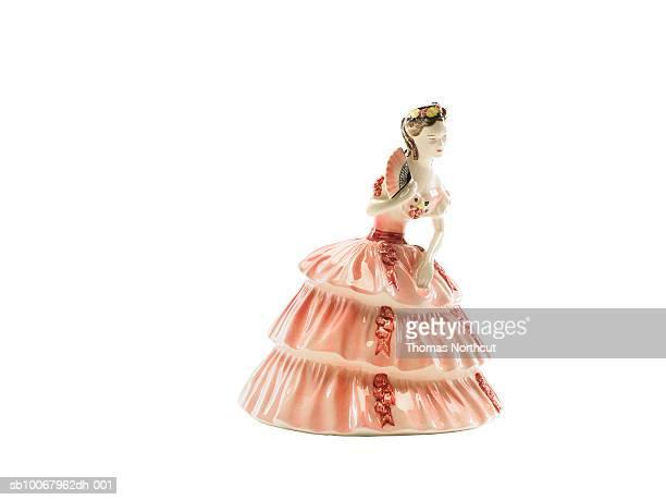 Porcelain Spanish figurine on white background