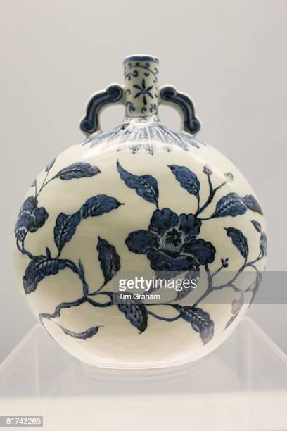 Porcelain vase of Jingdezhen origin on display in the Shanghai Museum China