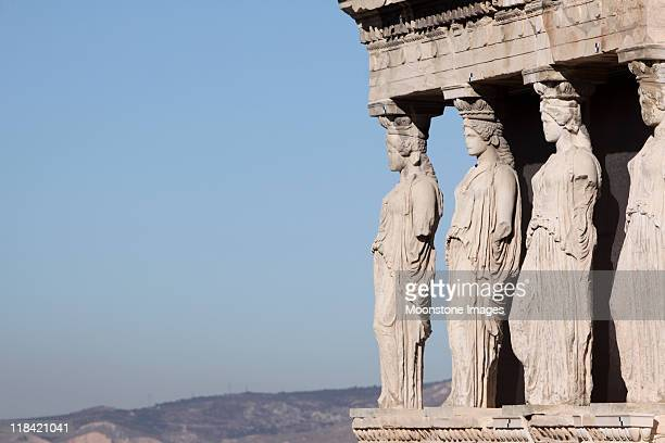 Porch of the Caryatids at Acropolis in Athens, Greece
