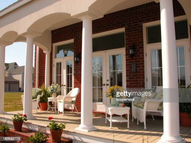Porch with columns