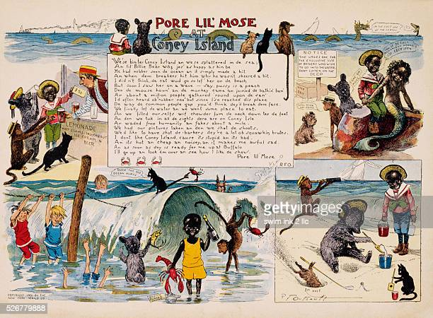 Pore Lil'Mose at Coney Island Cartoon by Richard Felton Outcault