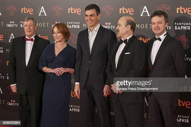 Porfirio Enriquez Gracia Querejeta Pedro Sanchez Antonio Resines and Edmon Roch attends Goya Cinema Awards 2016 at Madrid Marriott Aud