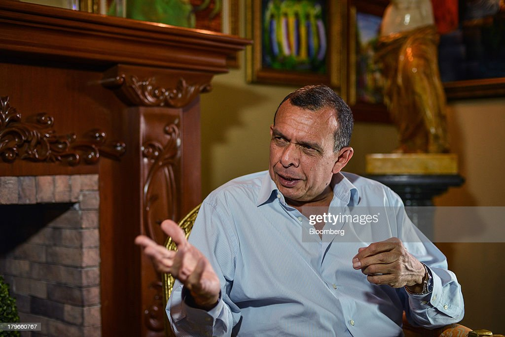 Porfirio Lobo Honduras's president speaks during an interview in Tegucigalpa Honduras on Thursday Sept 5 2013 A 150 percent increase in public sector...