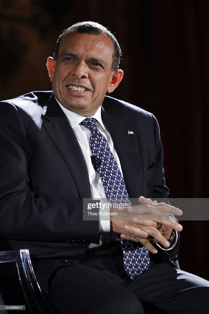 Porfirio Lobo Sosa President of Honduras attends 2010 Blouin Creative Leadership Summit Day 1 at the Metropolitan Club on September 22 2010 in New...