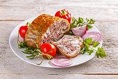 Brawn homemade ham, pork head cheese