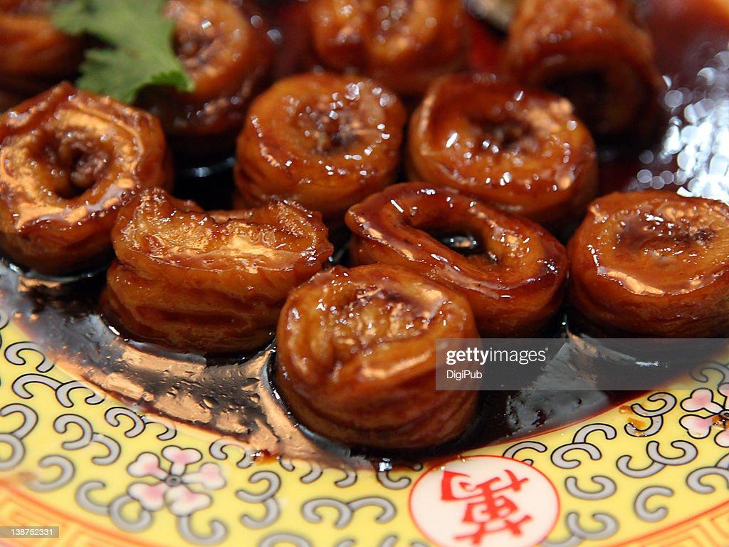 Pork intestine dish : Stock Photo