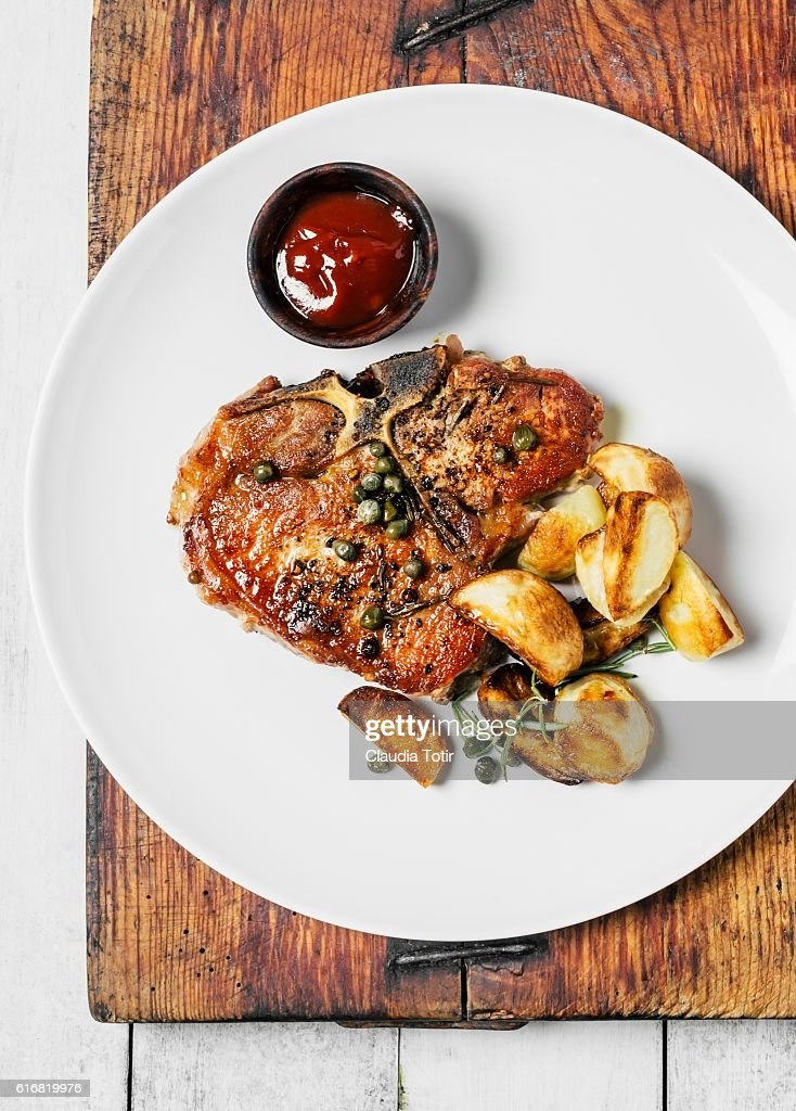 Pork loin chop : Stock Photo