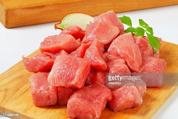 Schwein Fleisch für Gulasch