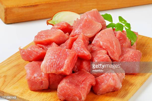 Pork meat for goulash