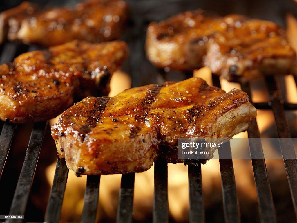 Barbecue Costolette di maiale Costole 4 : Stock Photo