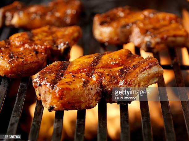 BBQ Pork Rib Chops 4