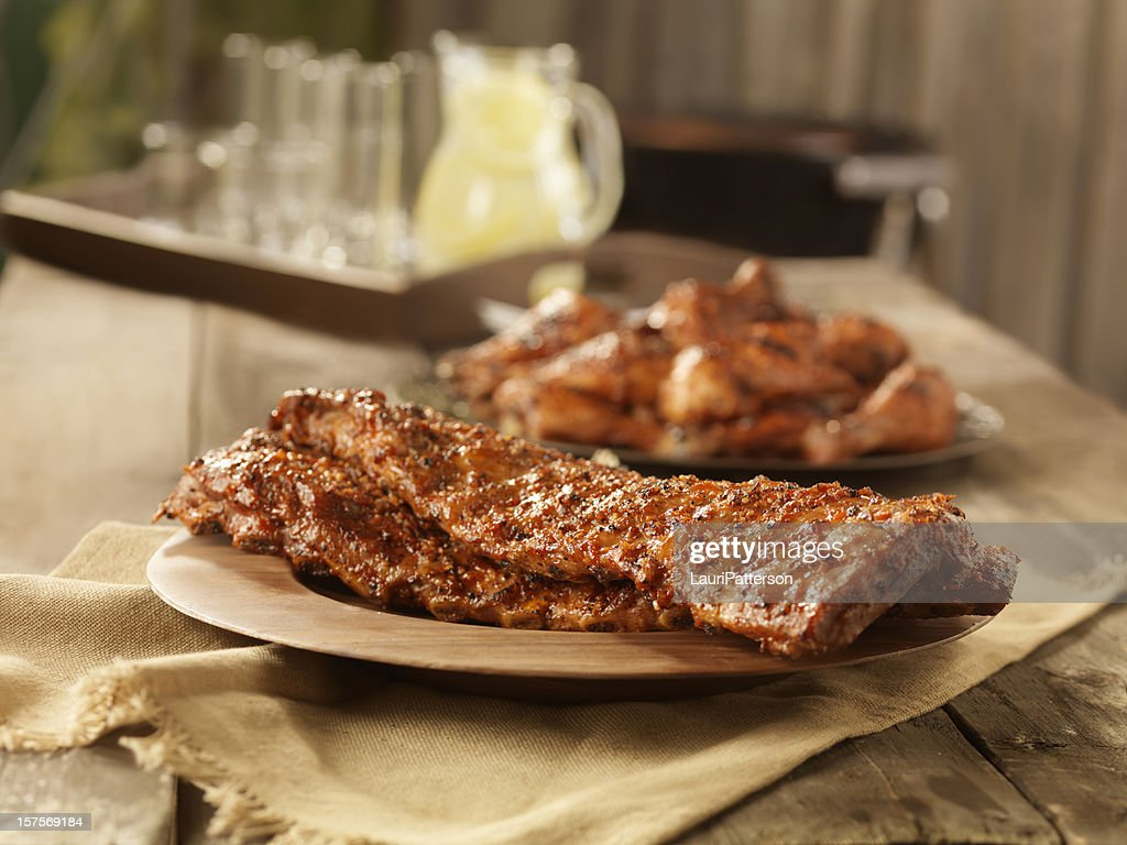 BBQ Pork Ribs and Chicken