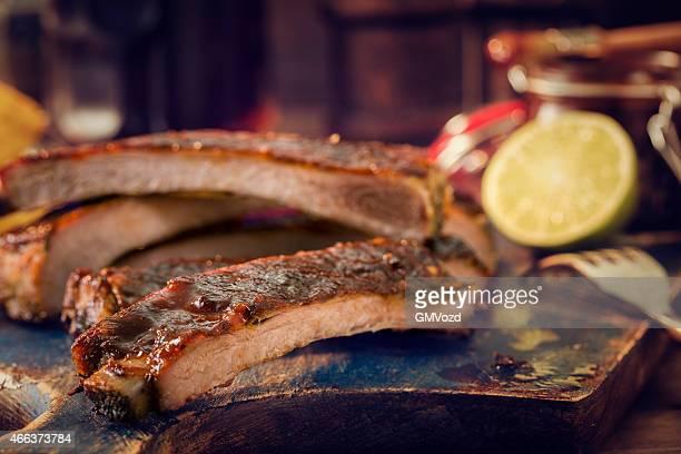 BBQ Pork Ribs with Potatoe Wedges