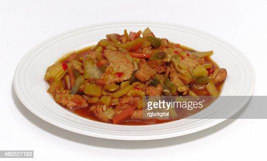 Maiale stir-fry : Foto stock
