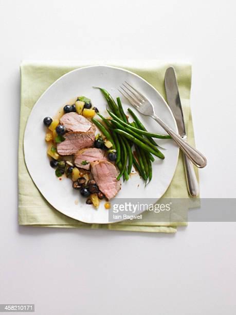 pork tenderloin and green beans