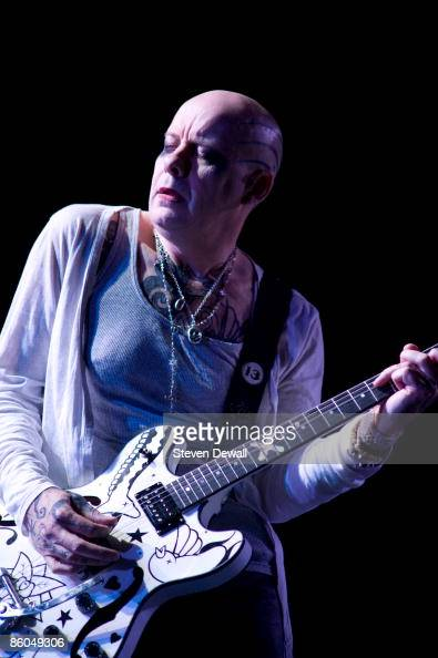 Porl Thompson The Cure performs on stage at Coachella Festival 2009 at Empire Polo Field on April 19 2009 in Indio California USA
