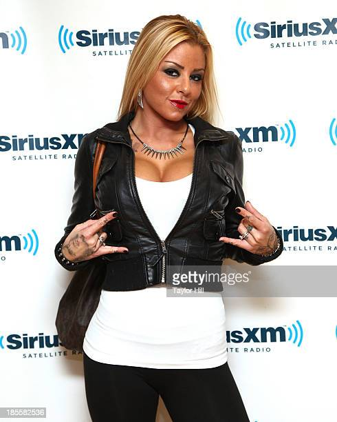 Porn star Britney Shannon visits the SiriusXM Studios on October 22 2013 in New York City