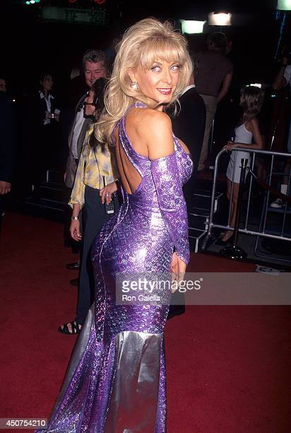 Porn star Nina Hartley attends the 'Boogie Nights' Hollywood Premiere on October 15 1997 at the Mann's Chinese Theatre in Hollywood California