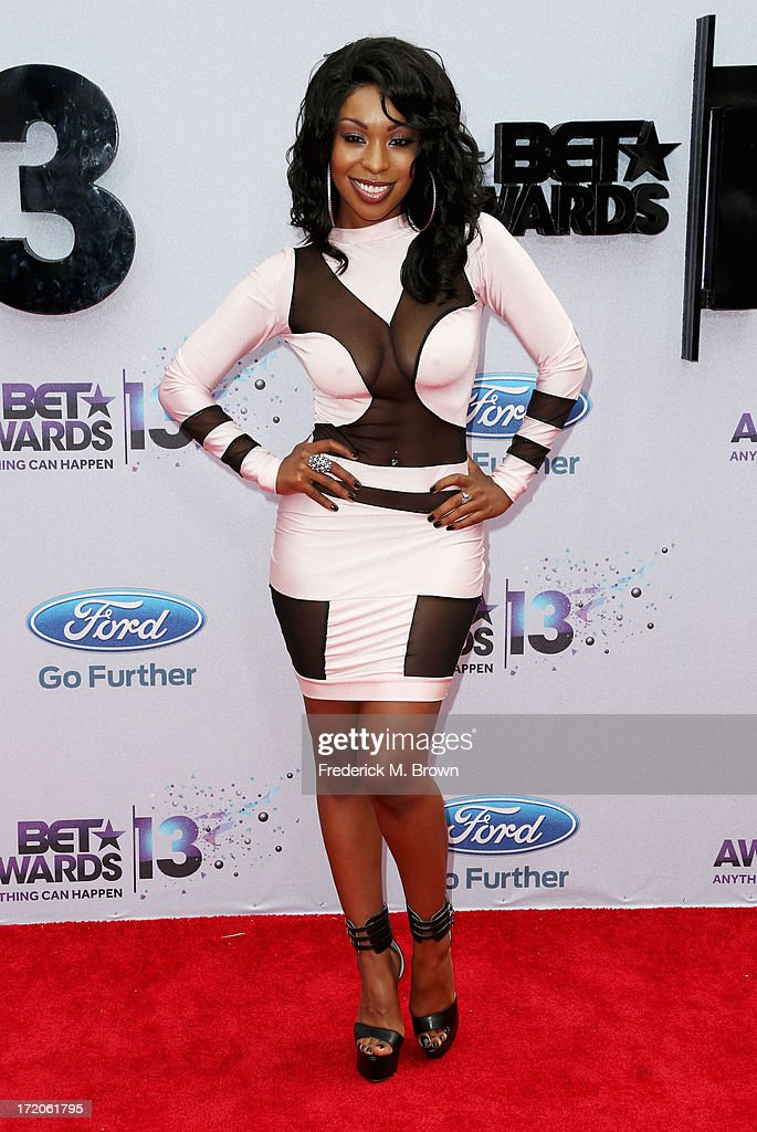 Porscha Coleman attends the 2013 BET Awards at Nokia Theatre L.A. Live on June 30, 2013 in Los Angeles, California.