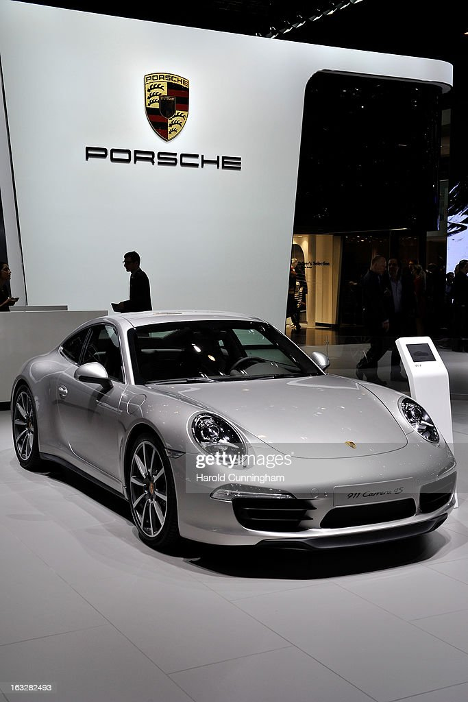 A Porsche 911 Carrera 4S is seen during the 83rd Geneva Motor Show on March 6, 2013 in Geneva, Switzerland. Held annually with more than 130 product premiers from the auto industry unveiled this year, the Geneva Motor Show is one of the world's five most important auto shows.